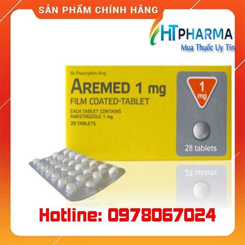 thuốc Aremed 1mg giá bao nhiêu mua ở đâu chính hãng