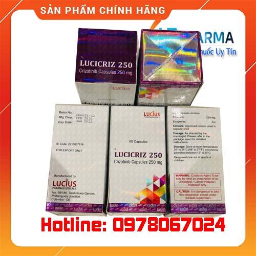 thuốc Lucicriz 250 giá bao nhiêu mua ở đâu chính hãng