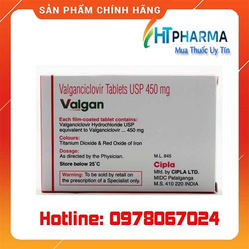thuốc Valgan giá bao nhiêu mua ở đâu chính hãng
