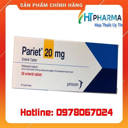 thuốc Pariet 20mg giá bao nhiêu mua ở đâu chính hãng