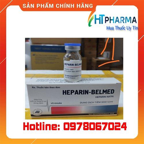 thuốc heparin Belmed giá bao nhiêu mua ở đâu