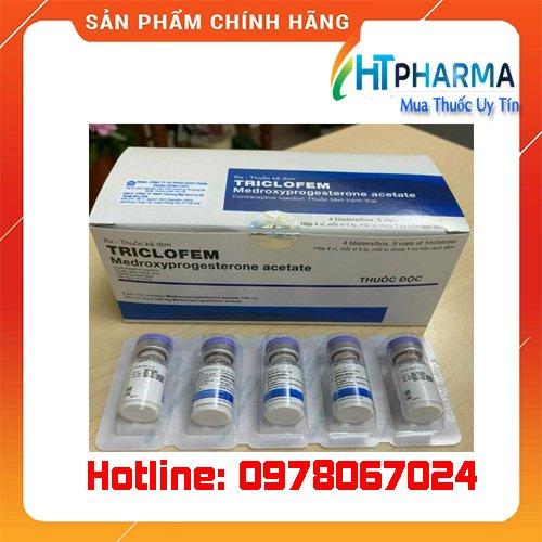 thuốc Triclofem tiêm tránh thai giá bao nhiêu mua ở đâu